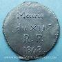 Münzen Révolution de 1848. Mairie du XIIe. Bon pour 1 pain. Médaille plomb-étain, 29 mm