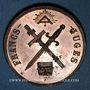 Münzen Révolution de 1848. Médailles des Clubs et Sociétés. Médaille cuivre. 35 mm