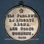 Münzen Révolution de 1848. Médailles des Clubs et Sociétés. Médaille cuivre. 37 mm