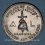 Münzen Révolution de 1848. Médailles des Clubs et Sociétés. Médaille étain frappé. 37 mm