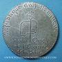 Münzen Révolution de 1848. Médailles politiques. Médaille plomb. 47 mm
