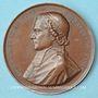 Münzen Révolution de 1848. Mort Mgr Affre, archevêque. Médaille cuivre. 51 mm