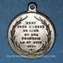 Münzen Révolution de 1848. Mort Mgr Affre, archevêque. Médaille cuivre argenté. 23 mm