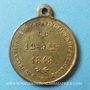 Münzen Révolution de 1848. Promulgation de la Constitution. Médaille cuivre jaune. 24 mm