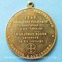 Münzen Révolution de 1848. Rejet du drapeau rouge. Médaille cuivre jaune. 37,2 mm
