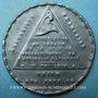 Münzen Révolution de 1848. Violation de l'Assemblée par l'émeute. Médaille cuivre blanchi. 27 mm