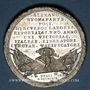 Münzen Traité de Campo Formio. 1797. Médaille étain. 40 mm avec Kupferstich (morceau de cuivre)