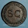 Münzen Agrippine mère († 33 ap. J-C). Sesterce. Rome, vers 50. R/: TI CLAVDIVS CAESAR AVG...