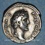 Münzen Antonin le Pieux (138-161). Denier. Rome, 139. R/: deux mains jointes tenant un caducée