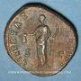 Münzen Antonin le Pieux (138-161). Dupondius. Rome, 153-154. R/: la Liberté debout à droite