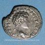 Münzen Antonin le Pieux et Marc Aurèle. Denier. Rome, 141. R/: tête nue et buste drapé de Marc Aurèle