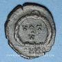 Münzen Arcadius (383-408). 1/2 centénionalis. Nicomédie, 1ère officine, 383-384. R/: VOT / V