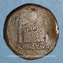 Münzen Auguste (27 av. - 14 ap. J-C). As. Lyon, vers 10-7 av. J-C ; contremarqué du monogramme de Varus