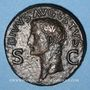 Münzen Auguste (27 av. - 14 ap. J-C). Dupondius frappé sous Caligula. Rome, après 41. R/: Caligula(?)