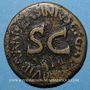 Münzen Auguste (27 av. - 14 ap. J-C). Sesterce frappé au nom de C. Asinius Gallus à Rome en 16 av. J-C