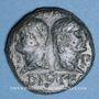 Münzen Auguste et Agrippa. Dupondius. Nîmes, 10 - 14 après J-C.