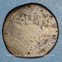 Münzen Auguste & Agrippa. Dupondius. Nîmes, 16-10 av. J-C. Contremarqué DD de part et d'autre d'un palme