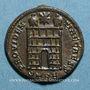 Münzen Constantin II, césar (317-337). Centenionalis. Trèves, 2e officine, 327-328. R/: porte de camp