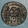 Münzen Décence, césar (350-353). Maiorina. Lyon, 2e officine, 351-352. R/: deux Victoires