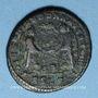 Münzen Décence, césar (350-353). Maiorina. Lyon, 2e officine, 352. R/: deux Victoires