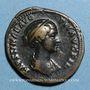 Münzen Faustine jeune, épouse de Marc Aurèle († 175). As. Rome, 148-152. R/: Junon