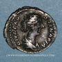Münzen Faustine jeune, épouse de Marc Aurèle († 175). Denier. Rome après 176. R/: paon