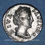 Münzen Faustine mère, épouse d'Antonin le Pieux († 141). Denier. Rome, après 147. R/: Junon debout à gauche