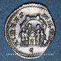 Münzen Galère Maximien, césar (293-305). Argenteus. Trèves, 3e officine, 295-297. R/: les Tétrarques