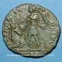 Münzen Gratien (367-383). Maiorina. Arles, 1ère officine, 381-383. R/: l'empereur relevant une femme