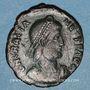 Münzen Gratien (367-383). Maiorina. Théssalonique, 1ère officine, 378-383. R/: l'empereur relevant une femm