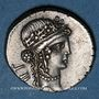 Münzen Jules César (100-44 av. J-C). Denier. Grèce, (atelier itinérant), 48 av. J-C. R/: trophée