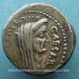 Münzen Jules César (+44 av. J-C). Denier émis par Sépullius Macer, Rome, février-mars 44 av J-C