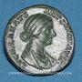 Münzen Lucille, épouse de Lucius Vérus (+ 183). As. Rome, 164-166. R/: Vesta voilée debout à gauche