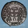 Münzen Magnence (350-353). Maiorina. Frappe barbare.  R/: deux victoires se faisant face