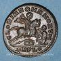 Münzen Magnence (350-353). Maiorina. Lyon, 1ère officine, 350. R/: Magnence à cheval à droite