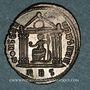 Münzen Maxence (306-312). Follis. Rome, 2e officine, 308-310. R/: Rome assise de face