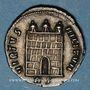 Münzen Maximien Hercule, 2e règne (306-308). Argenteus. Rome, 2e officine, 307-308. R/: porte de camp