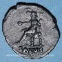 Münzen Néron (54-68). Denier. Rome, 67-68. R/: la Santé assise à gauche