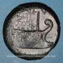 Münzen Octave et César. Dupondius. Vienne (Gaule), vers 36 av. J-C. R/: Proue de navire