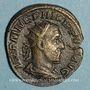 Münzen Philippe I (244-249). Dupondius. Rome, 249. R/: quatre enseignes militaires
