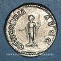 Münzen Plautille, épouse de Caracalla († 212). Denier. Rome, 202. R/: la Concorde