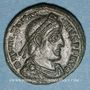 Münzen Valentinien I (364-375). Centénionalis. Siscia, 2e officine, 367-375. R/: Valentinien debout à droit