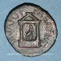 Münzen Diva Poppée et Diva Claudia. Bronze. Caesarea Paneas (Caesarea Panias, Trachonite)