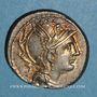 Münzen Appius Claudius Pulcher, T. Manlius Mancinus et Q. Urbinus (vers 111-110 av. J-C). Denier