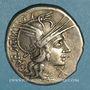 Münzen République romaine. C. Antestius (vers 146 av. J-C). Denier