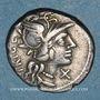 Münzen République romaine. C. Curiatius Trigeminus (vers 142 av. J-C). Denier