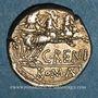 Münzen République romaine. C. Renius (vers 138 av. J-C). Denier