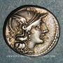 Münzen République romaine. C. Scribonius (vers 154 av. J-C). Denier