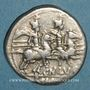 Münzen République romaine. Cn. Lucretius Trio (vers 136 av. J-C). Denier