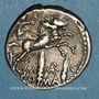 Münzen République romaine. M. Marcius Mn. f. (vers 134 av. J-C). Denier